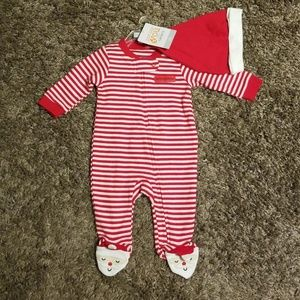 Carter's Striped Footie with Hat size newborn